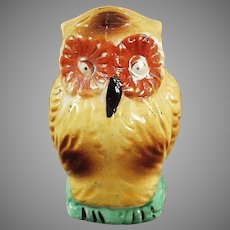 Unusual Vintage Bird Feeder - Colorful Owl, Bird Cage Accessory