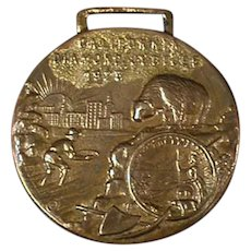 Vintage 1925 Watch Fob Celebrating California's Diamond Jubilee