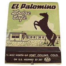 Vintage Over Sized Advertising Match Book - Large El Palomino Lodge Matchbook