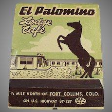 Vintage Over Sized Advertising Match Book - Large El Palomino Lodge Matchbook