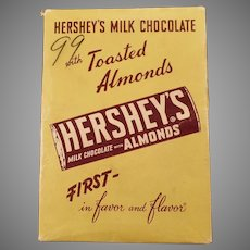 Vintage Candy Box - Hershey's Milk Chocolate Candy Bar with Almonds - Empty Box