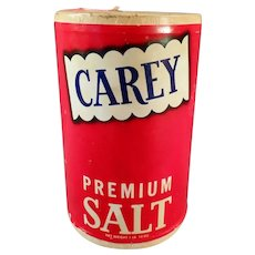 Vintage Salt Box - Carey Premium Salt from Hutchinson, Kansas - Red Kitchen Decor