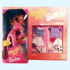 Vintage Workin' Out Barbie Doll Fashions Gift Set with Tennis and Soccer Clothes
