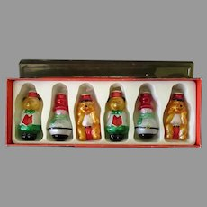 Vintage Christmas Ornament, Light Bulb Cover – Boxed Set of Six Glass Ornaments