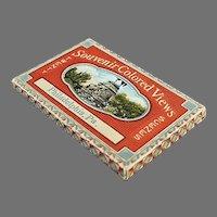 Vintage Philadelphia Souvenir Photo Souvenir Mailer with 20 Colored Photos