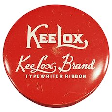 Vintage Red KeeLox Typewriter Ribbon Tin