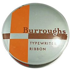 Vintage Typewriter Ribbon Tin - Burroughs Adding Machine Co.