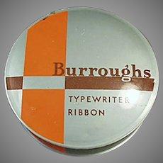 Vintage Typewriter Ribbon Tin - Burroughs Adding Machine Co.