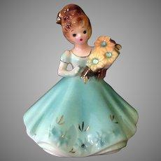 Vintage Josef Original – March Aquamarine Birthstone Doll Series Birthday Girl