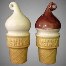 Vintage Dairy Queen Salt & Pepper Set – Little Ceramic Ice Cream Cones