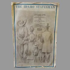 Vintage Idaho Statehood Golden Anniversary 1940 Idaho Statesman Newspaper – Wonderful Historic Memorabilia