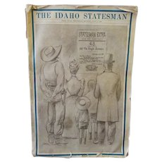 Vintage Idaho Statehood Golden Anniversary 1940 Idaho Statesman Newspaper – Wonderful Historic Memorabilia
