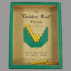 Vintage 1960's Dexterity Game of Skill - Golden Rod Puzzle