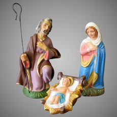 Vintage 1950's Nativity Scene Pieces – Joseph, Mary and Baby Jesus - Japan