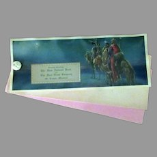 Vintage Celluloid Advertising Blotter - Christmas Greeting with the Three Wise Men