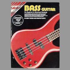 Progressive Bass Guitar for Beginner to Advanced Students - 1992 Paperback Book