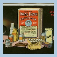 Vintage Celluloid Advertising Ink Blotter - Swans Down Cake Flour