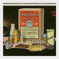 Vintage Celluloid Advertising Ink Blotter - Swans Down Cake Flour