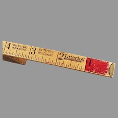 "Vintage #106  72"" Master Rule Wood Interlox Slide Out Rule"