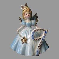 Vintage Josef Original Ninth Birthday Angel - #9 Age Nine Fairy