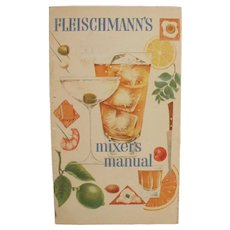 Vintage Bartender's Recipe Guide Booklet - Old Fleishmann's Mixer's Manual
