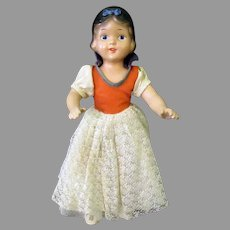 Vintage Composition Snow White Doll with Original Outfit