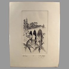 Artist Signed & Numbered Print - San Diego's Balboa Park Bell Tower, Cabrillo Bridge