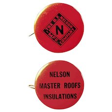 Vintage Celluloid Advertising Tape Measure - Nelson Master Roofing