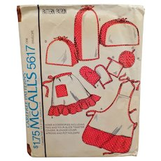 Vintage 1977 McCall's Pattern #5617 - Aprons and Kitchen Accessories including Toaster Cover