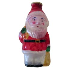 Vintage Christmas Ornament, Light Bulb Cover – Santa Claus