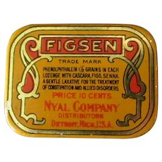 Small Vintage Figsen Laxative Medicine Tin – Old Medical Advertising