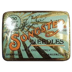 Vintage Songster Soft Tone Phonograph Needle Tin - Tin Only