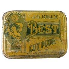 Vintage J.G. Dill's Best Cut Plug Tobacco Tin