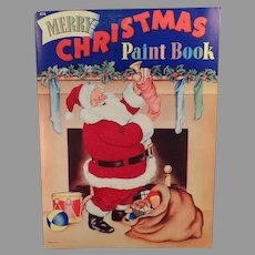 Vintage Christmas Paint and Coloring Book –  Santa Claus and Other Christmas Images