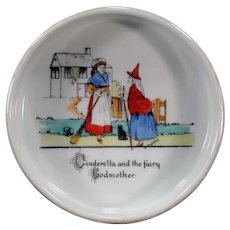 Vintage Baby Feeding Dish with Cinderella - Made in Czechoslovakia
