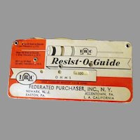 Vintage Resist-O-Guide for Resistor Values – RMA Standard Color Code