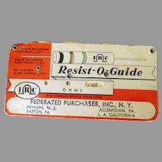 Vintage Resist-O-Guide for Resistor Values – RMA Standard Color Code
