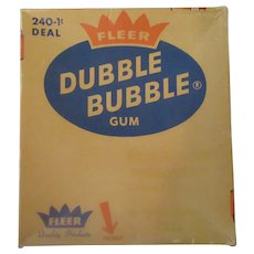 Vintage 1c Fleer Dubble Bubble Box - Old Bubble Gum Box
