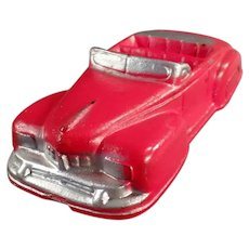 Vintage Auburn Rubber Toy - Red Lincoln Convertible Car - Very Nice Condition