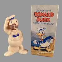 Vintage Donald Duck Figural Soap with Original Box - Old Disney Character Soap