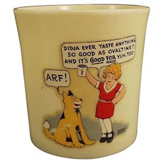 "Vintage Orphan Annie and Sandy ""Didja Ever"" Beetleware Ovaltine Mug"