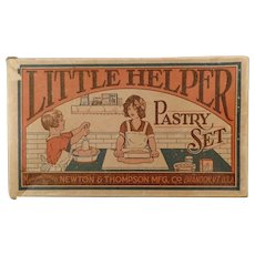Vintage Little Helper Pastry Set Toy Box - 1930's