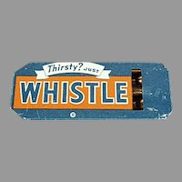 Vintage Advertising Whistle - Golden Orange Refreshment Whistle Soda