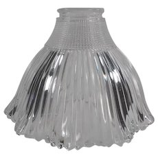 Vintage Light Fixture Shade - Holophane Pagoda - Small Neck Size