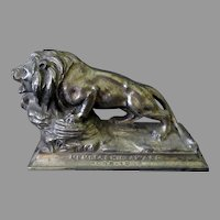 Vintage Lions International Advertising Paperweight – Membership Award 1930's
