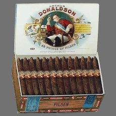 Vintage Advertising Sign - Arthur Donaldson Pilsen Cigars Cardboard Easel Sign