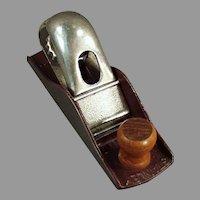 Vintage #110 Stanley Tool Block Plane with Original Maroon Japanned Finish