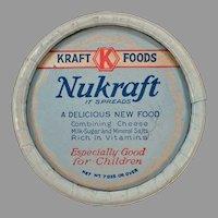 Vintage Kraft-Phenix Nukraft 1930's Cheese Box Advertising Memorabilia