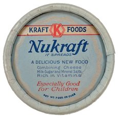 Vintage Kraft-Phenix Nukraft 1930's Cheese Box Advertising Memorabilia