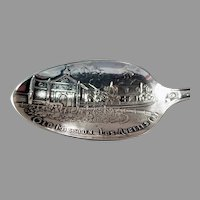 Vintage Sterling Silver Souvenir Spoon -  Los Angeles California Mission with Great Detail